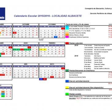 CALENDARIO ESCOLAR 2015/2016 ALBACETE